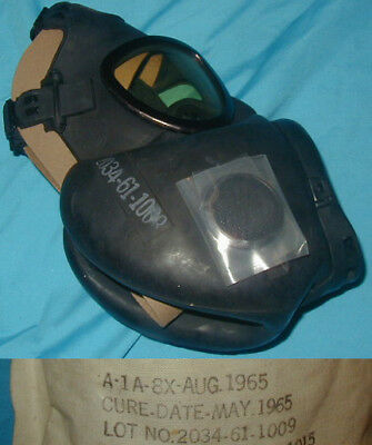 Original 1965 dated U.S. Army M17 Gas Mask Small - Mint / Unused NOS