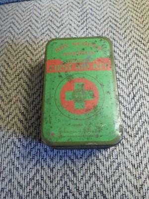 Vintage 1940's-50's Boy Scouts Of America Official First Aid Kit With Contents!