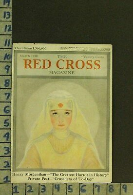 1918 Medical Nurse American Red Cross Military Hospital Illus Cover Zq04