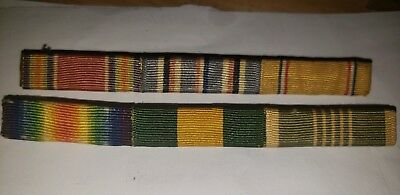 Original Usarmy Mexican/wwi/wwii Service Ribbons/pinback