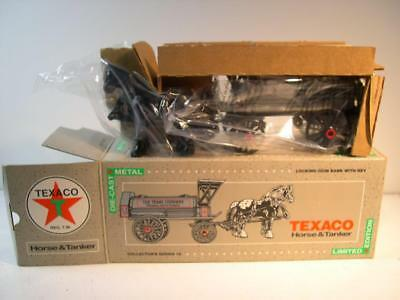ERTL 1991 Texaco Horse & Tanker New in Box 1/25 Scale Locking Coin Bank MINT NEW