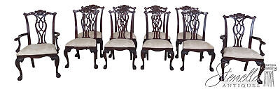 L30343EC: Set Of 10 CENTURY Ball & Claw Mahogany Dining Room Chairs