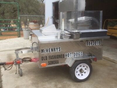 AMERICAN HOT DOG CART USED IN GOOD CONDITION 24 inch GRILL 3 BURNER WARMER