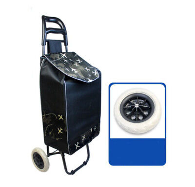 A198 Rugged Aluminium Luggage Trolley Hand Truck Folding Foldable Shopping Cart