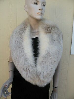 Vintage Plush Fox Fur 2 Toned Collar