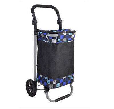 A145 Rugged Aluminium Luggage Trolley Hand Truck Folding Foldable Shopping Cart