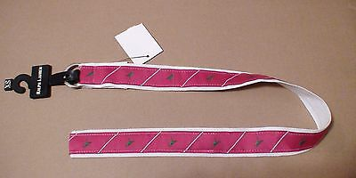 Ralph Lauren kid Magenta Fuchsia Pink Green Bird Animal Silver Buckle Belt XS NU