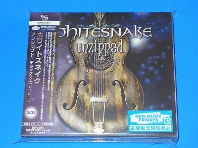 2018 Japan Only 2 Shm Cd Set Whitesnake Unzipped Deluxe Edition