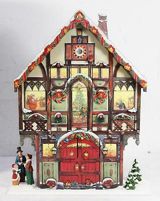 Costco Large Wood Christmas Victorian House Advent Calendar 24 Surprise Doors