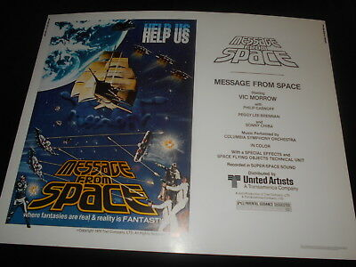 Message From Space Sci Fi Sonny Chiba  Original  Rolled Half Sheet Poster 22x28