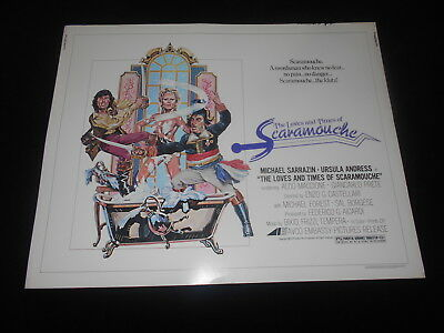 Loves Of Scaramouche Ursula Andress Original  Rolled 22x28 Half Sheet Poster