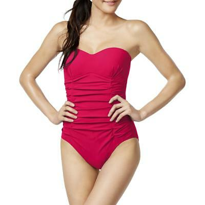 Gottex Womens Pink Strapless Ruched Slim Fitting One-Piece Swimsuit 12 BHFO 3431