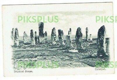 Old Postcard Druidical Standing Stones Callanish Isle Of Lewis Scotland C.1905