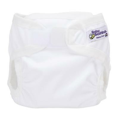 Baby Beehinds PUL Cover (PUL with Velcro) White Eco Friendly