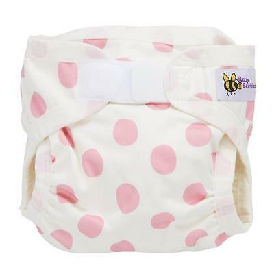 Baby Beehinds PUL Cover (PUL with Velcro) Pink Spot Eco Friendly