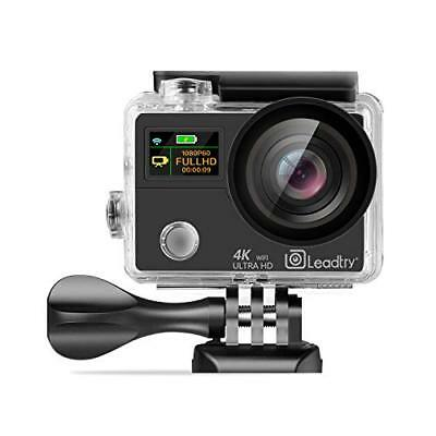 LeadTry TP3 Sports Action Camera 12MP WiFi Full 4K HD with Ultrathin Dual Video