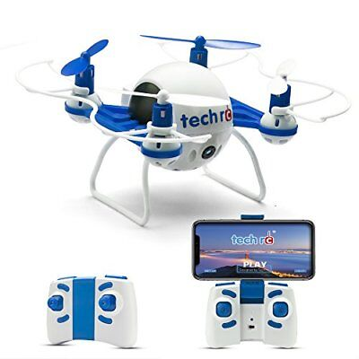 Tech RC TR001 Mini Drone with HD Camera WiFi FPV Live Video Headless Mode, 6 for