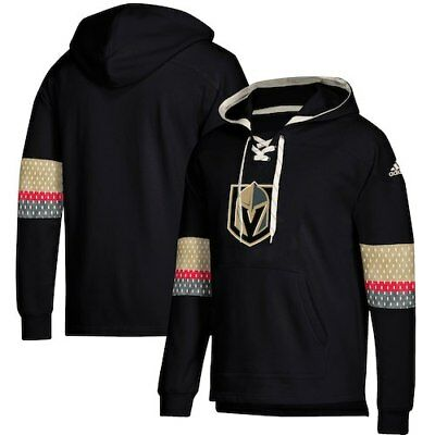cc440c3c9 Vegas Golden Knights adidas Jersey Lace-Up Pullover Hoodie - Black