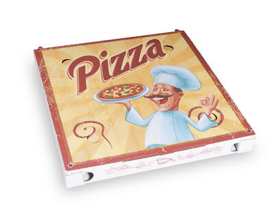 100 Pizzakarton Pizza Karton Pizzabox to go 30 cm Pizzakarton Motivdruck (71930)