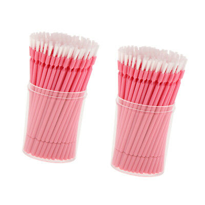 200x Bendable Dental Disposable Micro Brush Tips Applicator Tools with Box