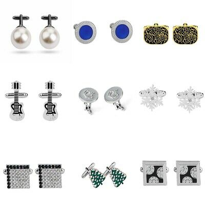 Mens Wedding Party Crystal Business Shirt Cufflinks Novelty Cuff Links Gifts NEW