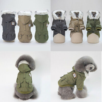 Dog Jacket padded waterproof Pet Puppy Clothes Warm windbreaker Vest Coat Winter