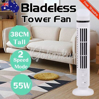 Bladeless Fan Control AirFlow Cross Flow Cooling Low db Tower Fan Home Office GK