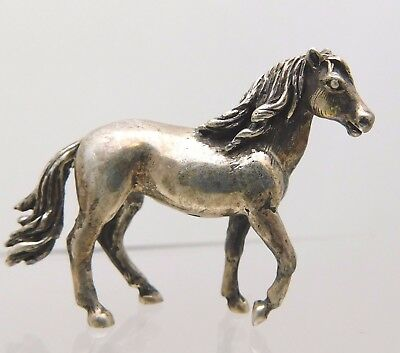 Solid Sterling Silver Miniature Horse Figurine
