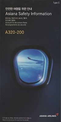 Asiana Airlines A320-200 Type C Safety Card