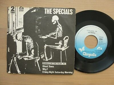 """The Specials – Ghost Town / Why? / Friday Night Saturday Morning 7"""" Single vg++"""