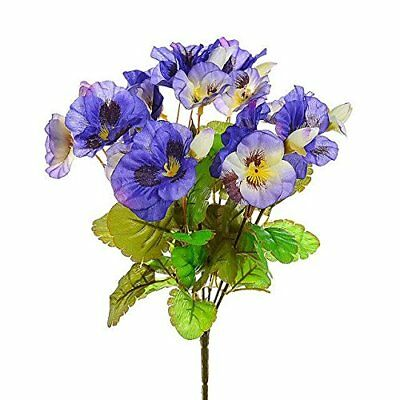 Small Posy of Purple and Lavender Artificial Silk Pansies Home Decor