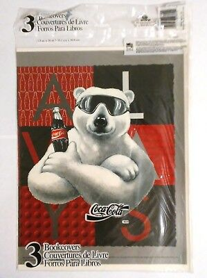 Coca Cola--Polar Bear Book Covers  3 Pack Unopened (1995)