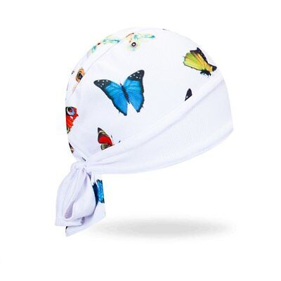 Moisture Wicking Rainbow Cartoon Tattoo Stretch Headwrap Biker Durag Skull Cap