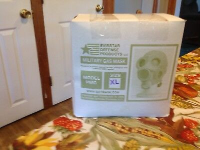 Evirstar Military Gas Mask Model PMD In Box New Size XL