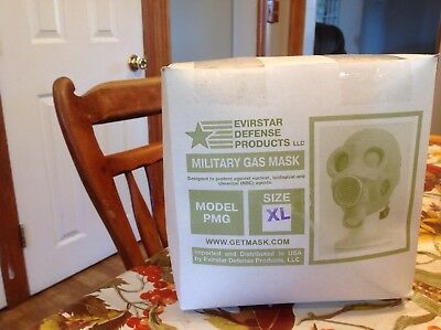 Evirstar Military Gas Mask Model PMG In Box New Size XL