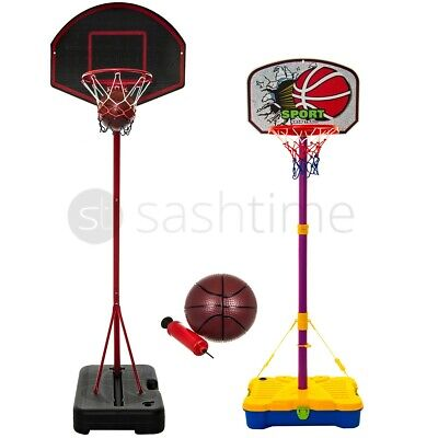 Free Standing Basketball Hoop Net Backboard Stand Set Adjustable Portable Wheels