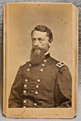 Civil War Relic Mathew Brady CDV of Union General George Stoneman in Uniform