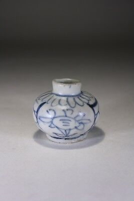 Antique Chinese Blue & White Porcelain Wanli Period Jar