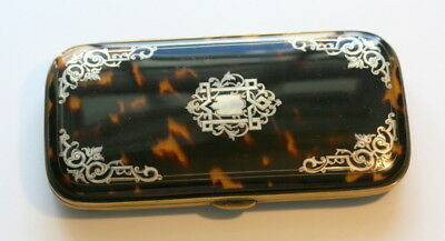 Silver Inlay Spectacles Cigar Case Etui, Exceptionally Fine Cond. Quality Item