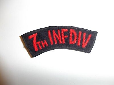 e1473Korea US Army 7th INF Infantry DIV Division tab order of Bayo R21A1