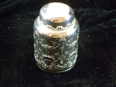 """Whiting Small 3 3/4"""" Tall By 2 1/2"""" Sterling Silver Antique Aesthetic Tea Caddy"""