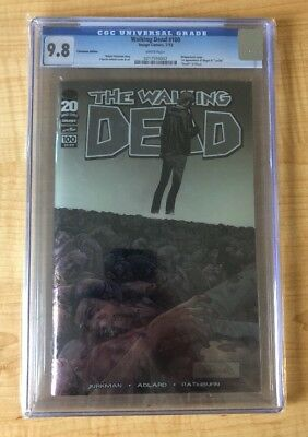 WALKING DEAD #100 Comic Book CGC 9.8 DEATH OF GLENN 1st NEGAN Chromium Var Cover