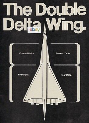 Lockheed Aircraft California Sr-71 Sst All Speed Double Delta Wing 3 Pg Ad