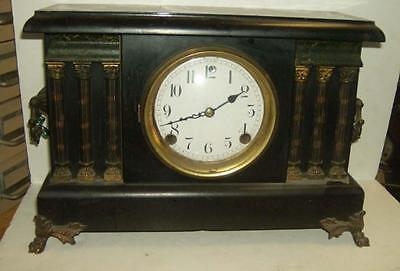 Vintage SESSIONS painted  wood cased mantel clock working MELROSE