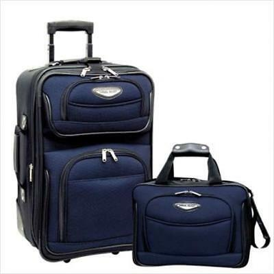 Travelers Choice TS6902N Amsterdam 2 Piece Carry-On Luggage Set in Navy