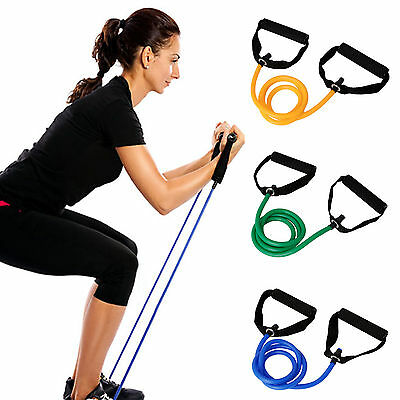 Exercise Fitness Resistance Bands Pilates Workout Gym Yoga Stretch Pull Rope