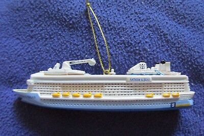 """NEW Official Royal Caribbean Anthem of the Seas Ship Ornament Christmas RCCL 5 """""""