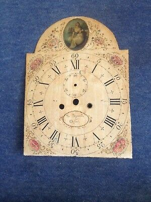 Vintage Hand Painted Grandfather Clock Dial.