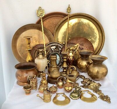 Fine Quality Joblot Of Antique /Vintage Mixed Brass & Copper Items Approx 10 Kg+