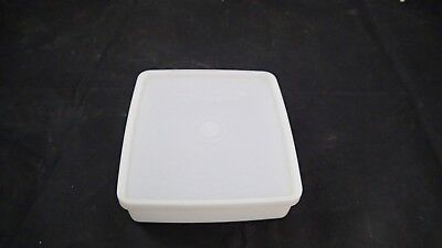 Vintage Tupperware Clear Lid 671/ 670 Rectangular Sandwich Container